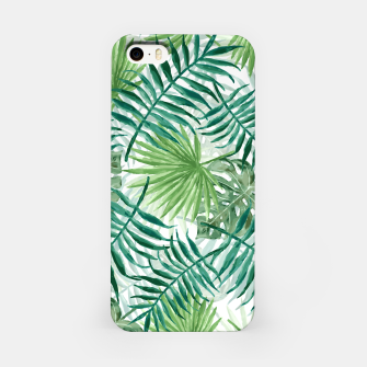 Miniatur Large Fern Palm and Monstera Tropical Plant Leafs iPhone Case, Live Heroes