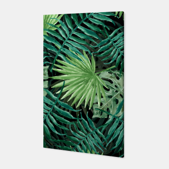 Miniatur Large Fern Palm and Monstera Jungle Leafs Canvas, Live Heroes