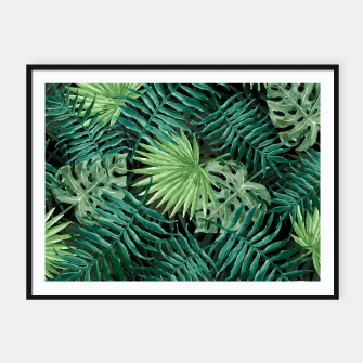 Miniatur Large Fern Palm and Monstera Jungle Leafs Framed poster, Live Heroes