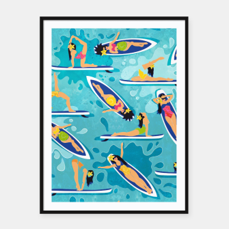 Thumbnail image of Rainbow Waikiki Reflexions Framed poster, Live Heroes