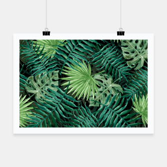 Miniatur Large Fern Palm and Monstera Jungle Leafs Poster, Live Heroes