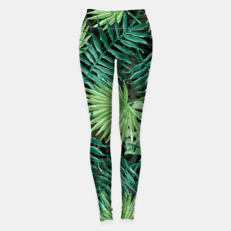 Miniatur Large Fern Palm and Monstera Jungle Leafs Leggings, Live Heroes