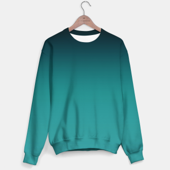 Thumbnail image of Black turquoise ombre gradient Sweater, Live Heroes
