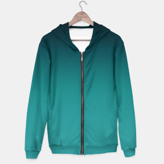 Thumbnail image of Black turquoise ombre gradient Hoodie, Live Heroes