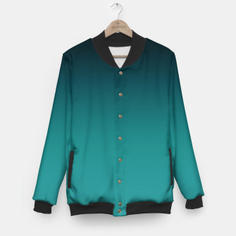 Thumbnail image of Black turquoise ombre gradient Baseball Jacket, Live Heroes
