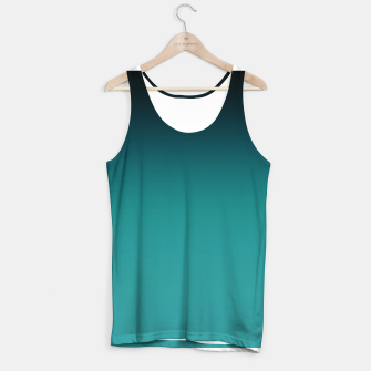 Thumbnail image of Black turquoise ombre gradient Tank Top, Live Heroes