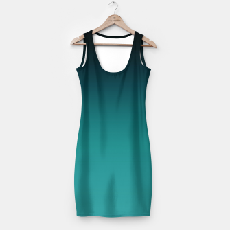 Thumbnail image of Black turquoise ombre gradient Simple Dress, Live Heroes