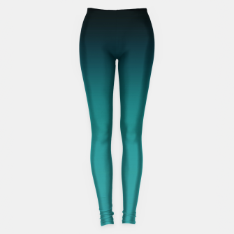 Thumbnail image of Black turquoise ombre gradient Leggings, Live Heroes