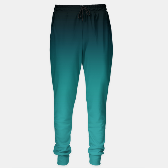 Thumbnail image of Black turquoise ombre gradient Sweatpants, Live Heroes