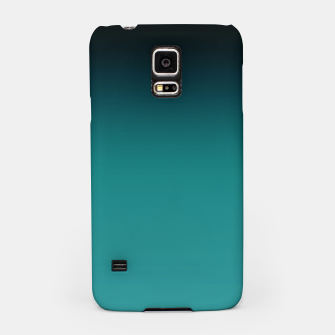 Thumbnail image of Black turquoise ombre gradient Samsung Case, Live Heroes