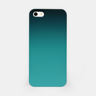 Thumbnail image of Black turquoise ombre gradient iPhone Case, Live Heroes