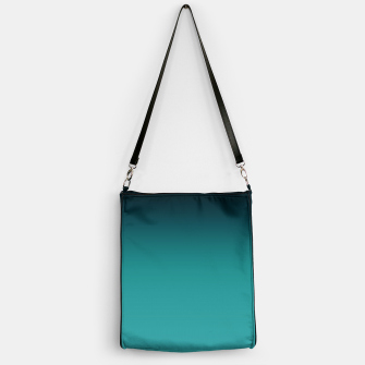 Thumbnail image of Black turquoise ombre gradient Handbag, Live Heroes