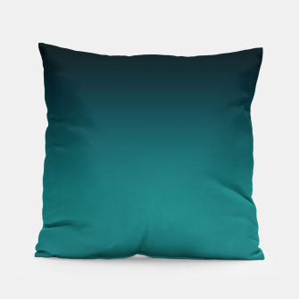 Thumbnail image of Black turquoise ombre gradient Pillow, Live Heroes