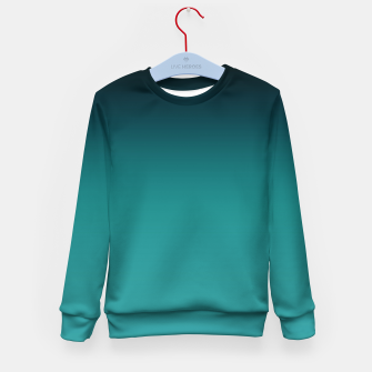 Thumbnail image of Black turquoise ombre gradient Kid's Sweater, Live Heroes