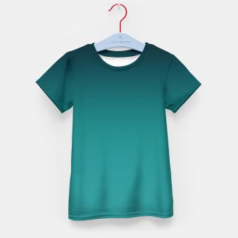Thumbnail image of Black turquoise ombre gradient Kid's T-shirt, Live Heroes