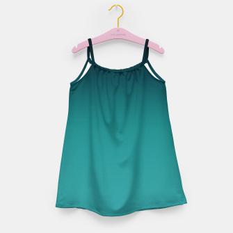 Thumbnail image of Black turquoise ombre gradient Girl's Dress, Live Heroes