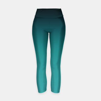 Thumbnail image of Black turquoise ombre gradient Yoga Pants, Live Heroes