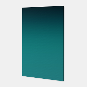 Thumbnail image of Black turquoise ombre gradient Canvas, Live Heroes