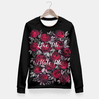 Miniaturka Love Me or Hate Me Fitted Waist Sweater, Live Heroes
