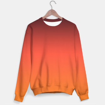 Thumbnail image of Ombre gradient orange brown colors Sweater, Live Heroes