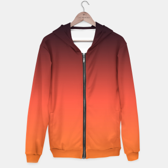 Thumbnail image of Ombre gradient orange brown colors Hoodie, Live Heroes
