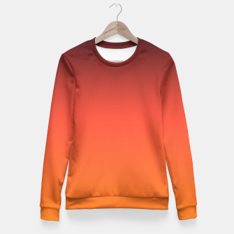 Thumbnail image of Ombre gradient orange brown colors Fitted Waist Sweater, Live Heroes