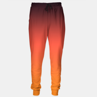 Thumbnail image of Ombre gradient orange brown colors Sweatpants, Live Heroes