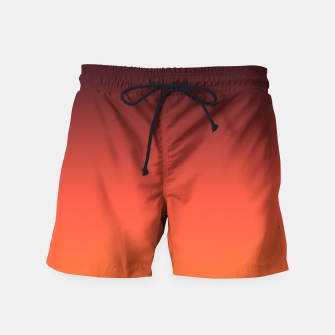 Thumbnail image of Ombre gradient orange brown colors Swim Shorts, Live Heroes