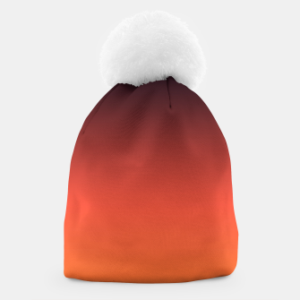 Thumbnail image of Ombre gradient orange brown colors Beanie, Live Heroes