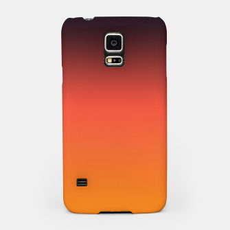 Thumbnail image of Ombre gradient orange brown colors Samsung Case, Live Heroes
