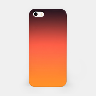 Thumbnail image of Ombre gradient orange brown colors iPhone Case, Live Heroes