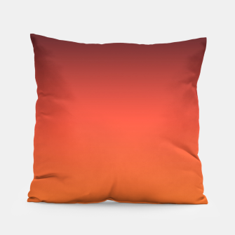 Thumbnail image of Ombre gradient orange brown colors Pillow, Live Heroes