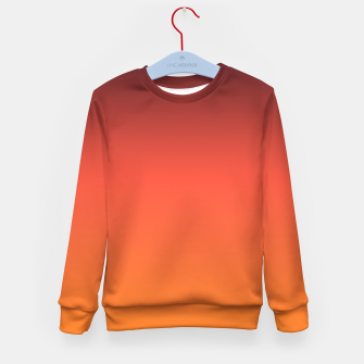 Thumbnail image of Ombre gradient orange brown colors Kid's Sweater, Live Heroes