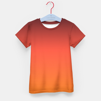Thumbnail image of Ombre gradient orange brown colors Kid's T-shirt, Live Heroes