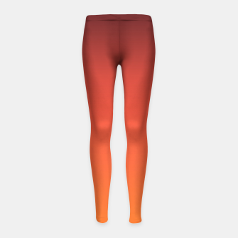 Thumbnail image of Ombre gradient orange brown colors Girl's Leggings, Live Heroes
