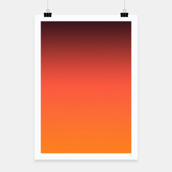 Thumbnail image of Ombre gradient orange brown colors Poster, Live Heroes