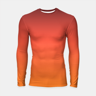 Thumbnail image of Ombre gradient orange brown colors Longsleeve Rashguard , Live Heroes