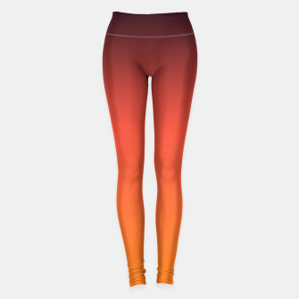 Thumbnail image of Ombre gradient orange brown colors Leggings, Live Heroes