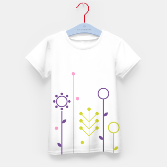 Miniatur KIDS ARTISTIC TSHIRT WITH WHITE FOLK Art Flowers, Live Heroes