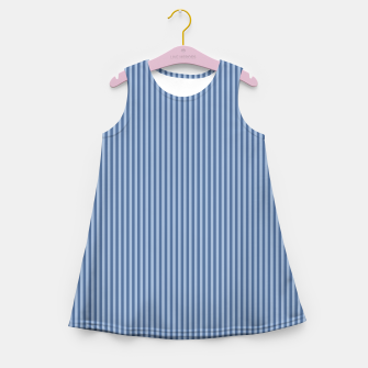 Miniaturka Trendy blue Stripes Girl's Summer Dress, Live Heroes