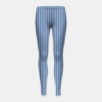 Miniaturka Trendy blue Stripes Girl's Leggings, Live Heroes