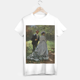 Miniatur Bazille and Camille painting by Claude Monet T-shirt regular, Live Heroes