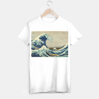 Miniatur The Classic Japanese Great Wave off Kanagawa by Hokusai T-shirt regular, Live Heroes