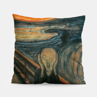 Miniatur Classic Art - The Scream  - Edvard Munch Pillow, Live Heroes