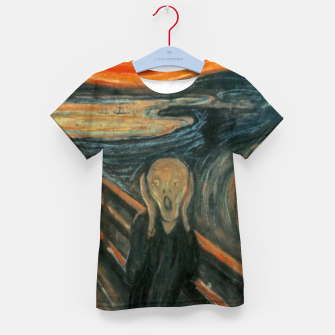 Miniatur Classic Art - The Scream  - Edvard Munch Kid's t-shirt, Live Heroes