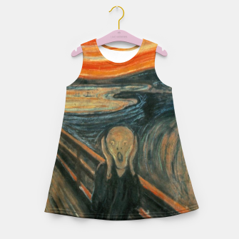 Miniatur Classic Art - The Scream  - Edvard Munch Girl's summer dress, Live Heroes