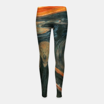 Miniatur Classic Art - The Scream  - Edvard Munch Girl's leggings, Live Heroes