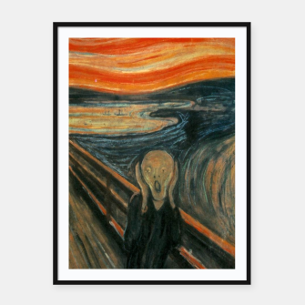Miniatur Classic Art - The Scream  - Edvard Munch Framed poster, Live Heroes