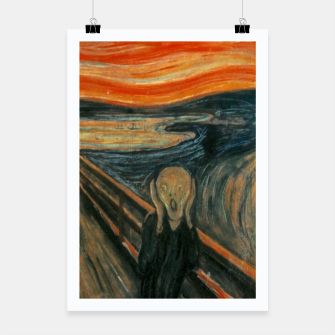 Miniatur Classic Art - The Scream  - Edvard Munch Poster, Live Heroes