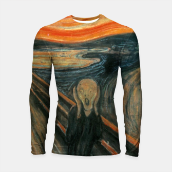 Miniatur Classic Art - The Scream  - Edvard Munch Longsleeve rashguard , Live Heroes